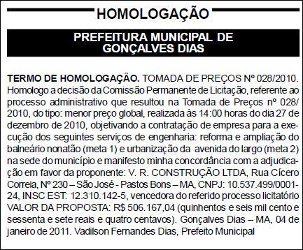 Jornal Oficial dos Municípios do Maranhão N.° 579
