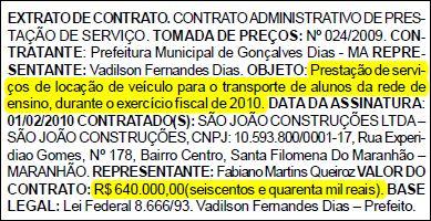 Diário Oficial dos Municípios do Maranhão, edição n.º 597