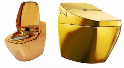 Vaso sanitário de ouro em Gonçalves Dias.